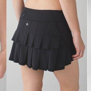 Lululemon Run: Pace Setter Skirt Black Tennis 6